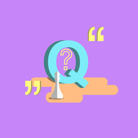 questions: The letter of the alphabet - Q Illustration