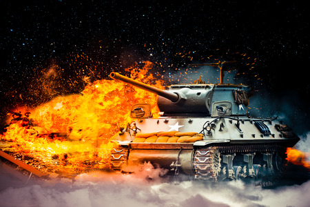 enemy: The military destroyed the enemy tank