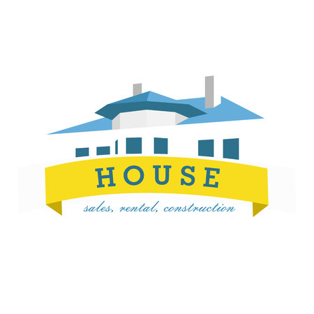 house building: House  design template. Realty theme icon. Building vector silhouette.