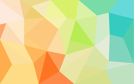 parallelepiped: Rainbow colors triangular vector pattern