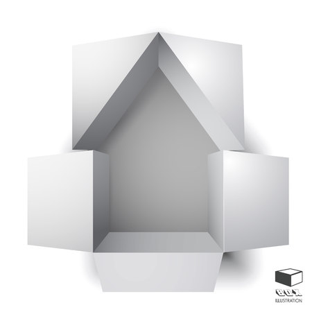apartment house: Paper box of an apartment house