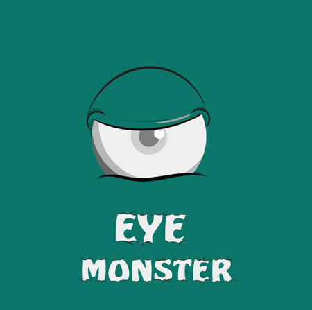 scary story: Eye scary Monster. Vector illustration