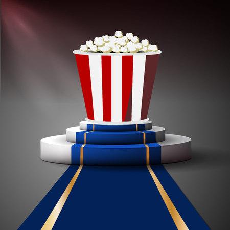 premiere: Popcorn on the podium. Movie premiere