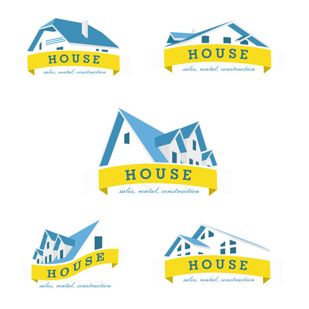 business sign: House logo design template. Realty theme icon. Building vector silhouette.