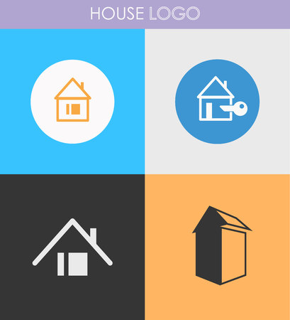 houses: Houses icons set. Logos housing