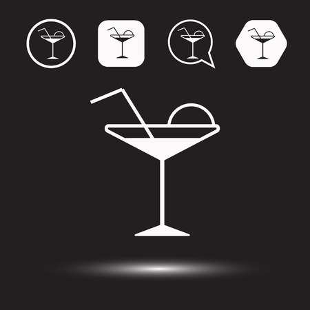 playbill: Liquor icon. Cocktail logo. Vector illustration