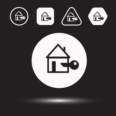 houses: Houses icons set. Logos housing. Vector illustration