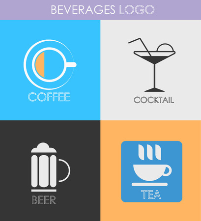 alcoholic beverage: Alcoholic beverage icons Illustration