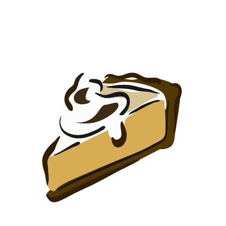 gateau: A piece of sponge cake