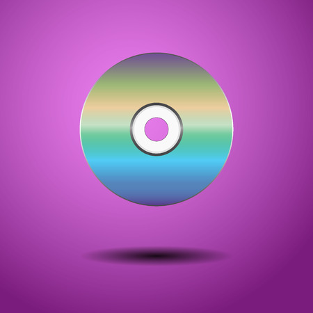 blu ray: CD on a purple background. Vector illustration Illustration