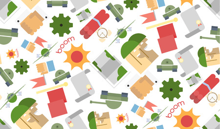 hands shaking: Funny seamless pattern Military. Vector illustration