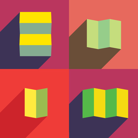 paper forms: Paper forms. Folded paper into several pieces Illustration