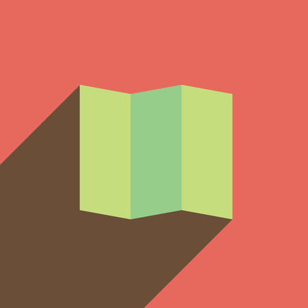 folded paper: Paper forms. Folded paper into several pieces Illustration