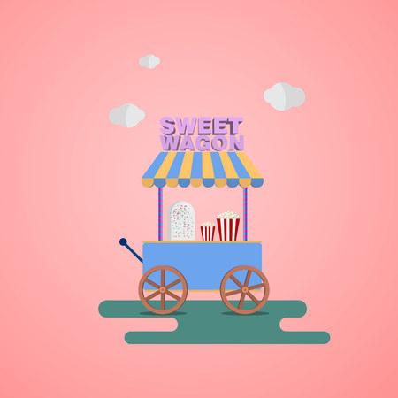 sweet shop: Sweet Wagon. Sweet shop on wheels