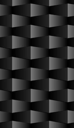 black block: Abstract geometric background with rectangles pattern in black. Seamless pattern