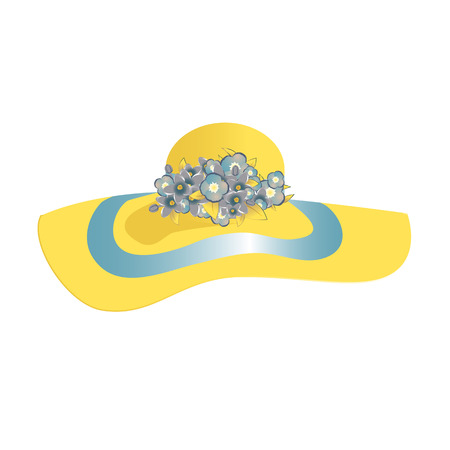 hatband: Ladys hat with a brim. Womens Accessories