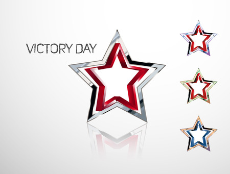 awarded: star in a star. Victory in the war. May 9 - Victory Day Illustration