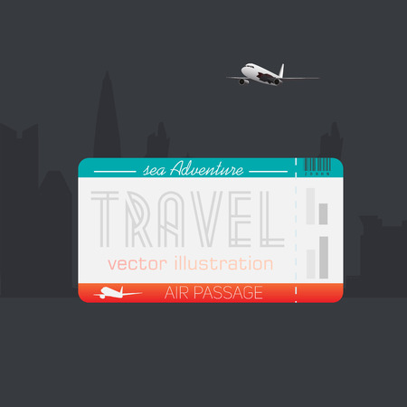 locomotion: Tickets for travel on an airplane. Ticket to vacation