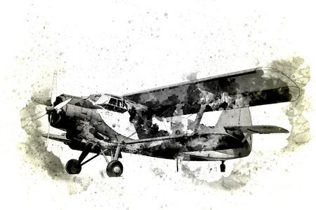 Oude vlieg tuig geïsoleerd op een witte achtergrond
