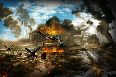 Tank mission to destroy enemy targets