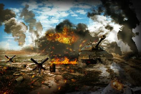 Tank missie om vijandelijke doelen te vernietigen