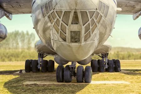 Tentoonstelling modellen van vliegtuigen verwijderd uit de release. Vliegtuigonderdelen Stockfoto