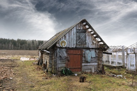 Abandoned old barn in rural location