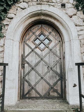 Old beautiful wooden door Archivio Fotografico