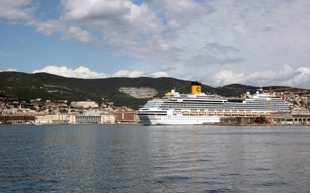 Trieste, ITA - 2 july 2011: Inauguration of the cruise ship Costa Favolosa in Trieste. Stock Photo - 13072930