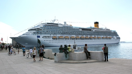 Trieste, ITA - 2 july 2011: Inauguration of the cruise ship Costa Favolosa in Trieste.