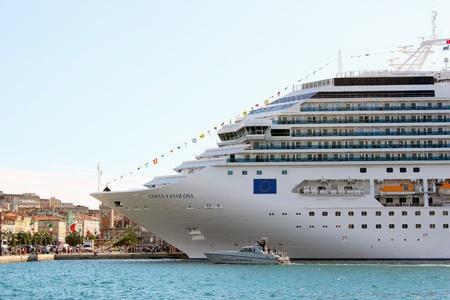 Trieste, ITA - 2 july 2011: Inauguration of the cruise ship Costa Favolosa in Trieste.