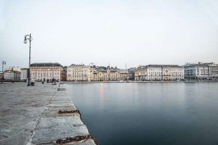View of Piazza Unit� d Italia from Molo Audace, Trieste, Italy