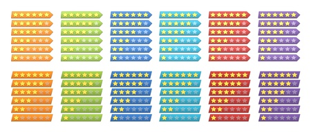 A complete set of colorful rating stars for web Stock Photo - 13070459