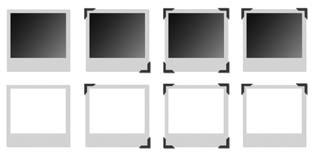 Various models of photo frame with black metal angular photo