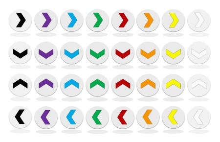 Colorful arrow button set - 32 elements photo