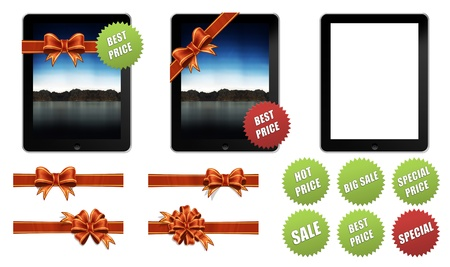 Gift Apple iPad 2 with decorations and promotional icons