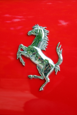 Ferrari logo on a car