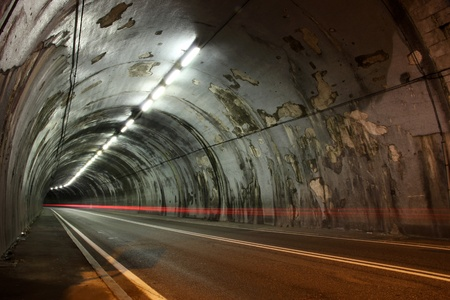 Night view of road tunnel under the Scala Dei Giganti of Trieste   Stock Photo - 13128983