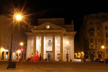 Night view of Piazza della Borsa in Trieste  Stock Photo - 13118256