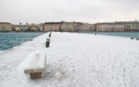 trieste: View of Trieste ice from Molo Audace