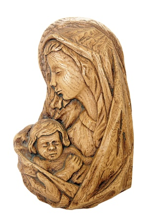 Wooden statue of the Madonna