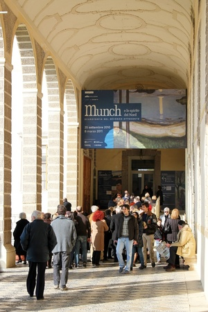 Munch paintings exhibition at the Villa Manin in March 2011
