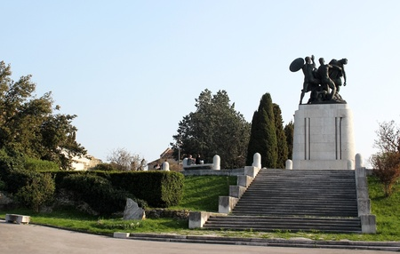 Monument to the fallen in war. San Giusto in Trieste. Stock Photo - 13182873