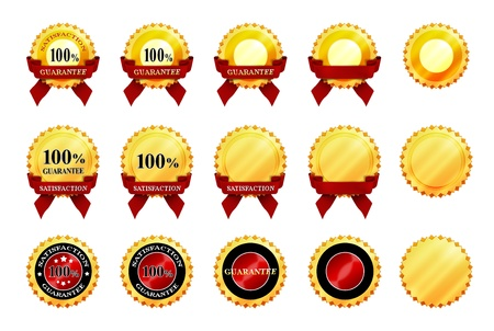 Complete set of icons of satisfaction and guarantee Stock Photo - 14127509