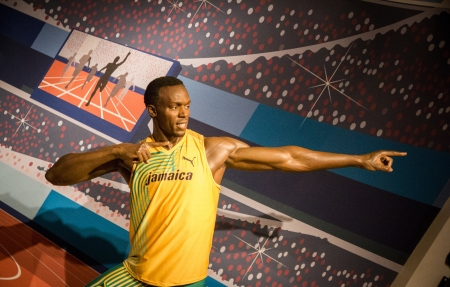 The statue of Usain Bolt at Madame Tussauds in London, 2012