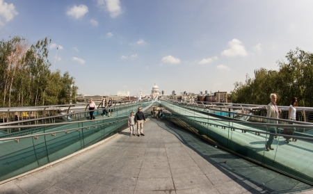 The Millennium Bridge and St Paul cathedral in london, 2012 Stock Photo - 14998714