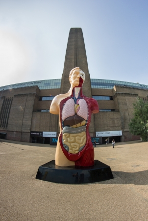 Giant statue of the human body in London Editorial