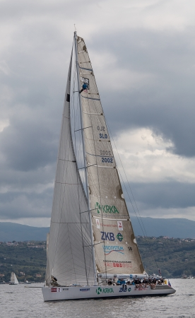barcolana: sailboat during a race in the Gulf of Trieste during Barcolana 2012