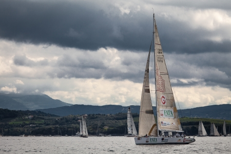 sailboat during a race in the Gulf of Trieste during Barcolana 2012 Stock Photo - 15838444
