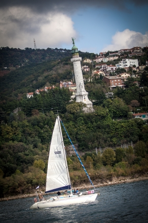 sailboat during a race in the Gulf of Trieste during Barcolana 2012 Stock Photo - 15838454